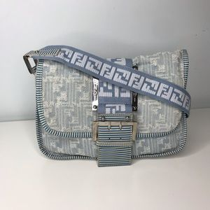 0408630859 Fendi Bags   Vintage Rare Zucca Denim Bag   Poshmark